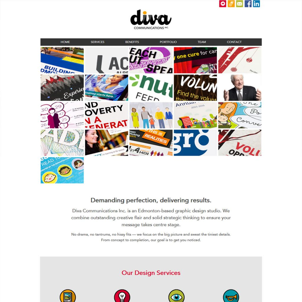 DIVA Communications Website