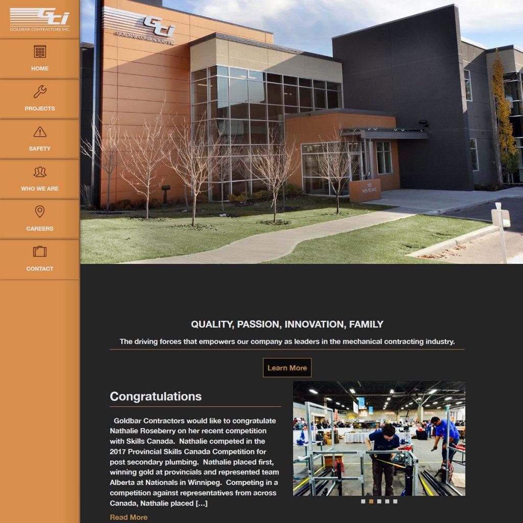 Goldbar Contractors Inc. Website