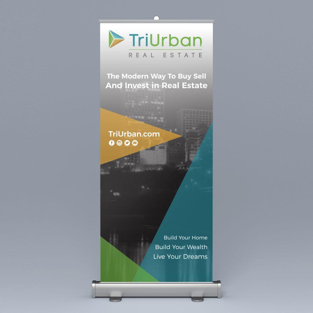 TriUrban Real Estate Roll Up Banner Design